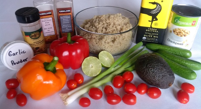 Ingredients for Quinoa Salad
