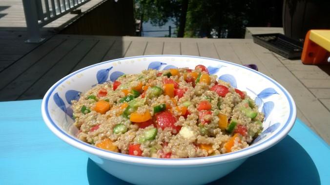 Quinoa Salad on the Lake